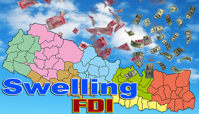 Foreign Investment in Nepal from China Increases Whereas India Declines