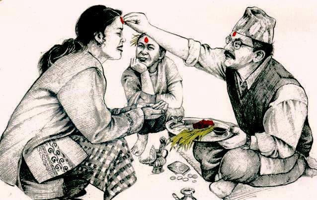 आज विजयादशमी, मान्यजनसँग टीका जमरा ग्रहण गरिँदै