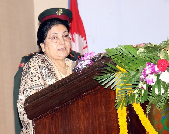 Nepal's image boosted in int'l arena: President Bhandari