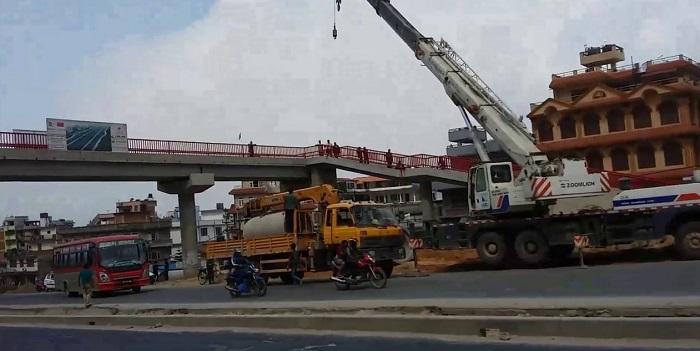 कोटेश्वर-कलङ्की सडकमा थप ६ वटा आकाशे पुल बन्ने