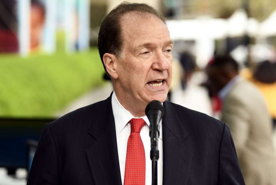 World Bank President David Malpass says there is too much debt in the world
