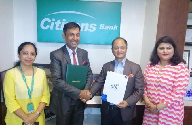 सिटिजन्स बैंक र एन.बि.आई बीच कर्मचारी कार्यदक्षता अभिवृद्धिका लागि तालिम गर्ने सम्झौता
