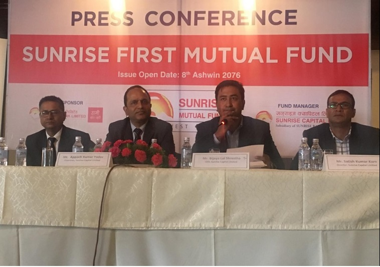 Sunrise Capital Starts Issuing 'Sunrise First Mutual Fund'