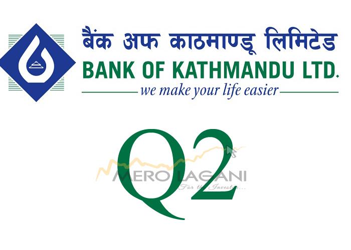 बैंक अफ काठमाण्डूको खुद नाफामा सुधार, ईपीएस सामान्य घट्यो