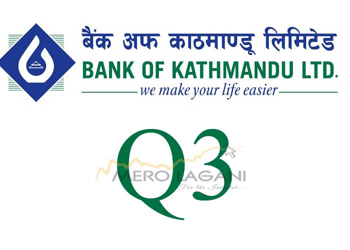 ब्याज आम्दानी घट्दा पनि बैंक अफ काठमाण्डूको नाफामा उल्लेख्य सुधार, यस्ता छन अन्य सूचक