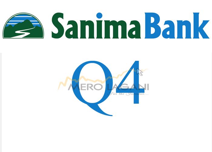 Sanima Bank's Net Profit and EPS declines