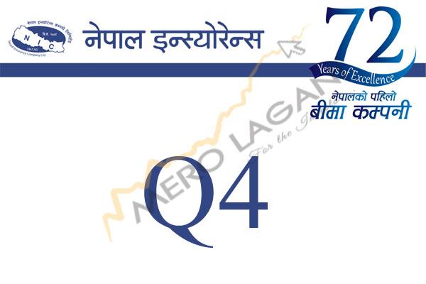 नेपाल इन्स्योरेन्सकाे खुद नाफा १२.३६ प्रतिशत बढ्यो