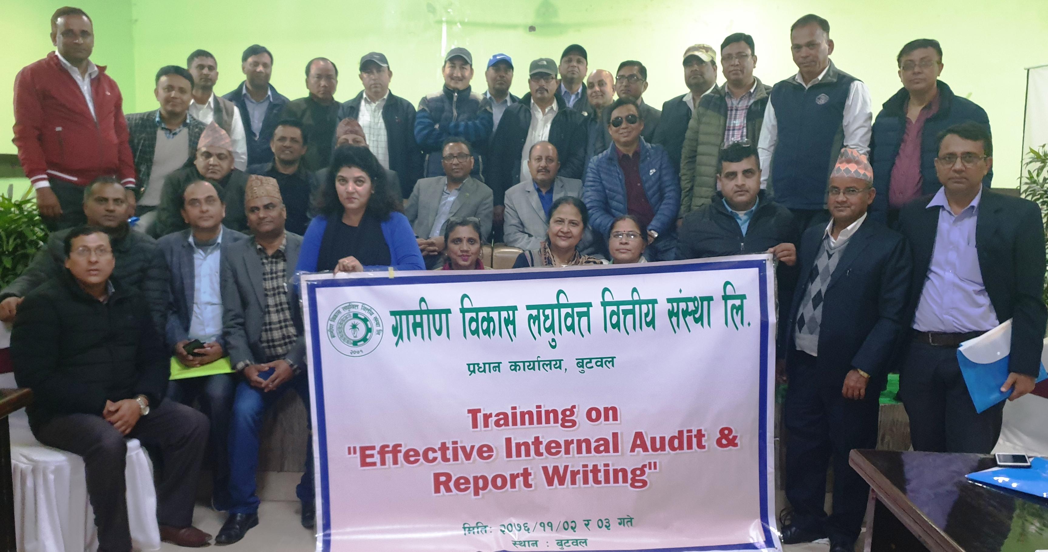 ग्रामीण विकास लघुवित्तद्वारा आन्तरिक लेखापरीक्षण तालिम सम्पन्न
