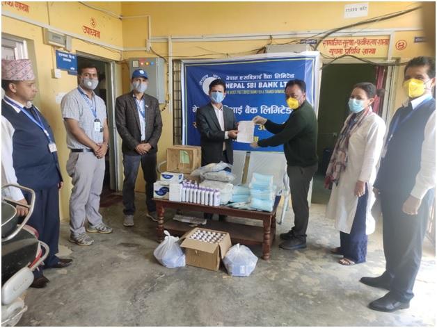 नेपाल एसबिआई बैंकद्वारा कोराेना रोकथामको लागि सहयोग