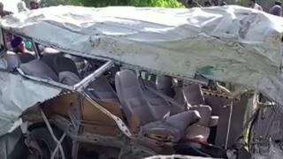 सिख तिर्थ यात्री सवार बस र रेल ठोक्किदा १९ को मृत्यु