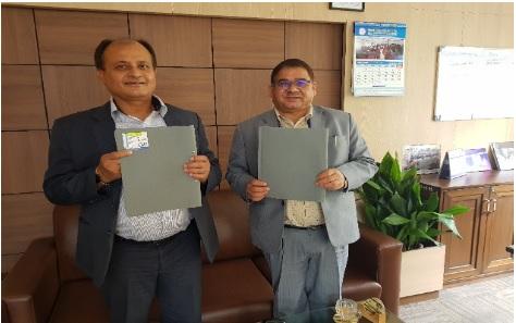 कृषि विकास बैंक र नेपाल स्टक एक्सचेन्जबीच धितोपत्र सूचिकरण सम्बन्धी सम्झौता